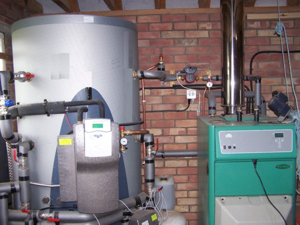 Buffer Store With A Wood Pellet Boiler