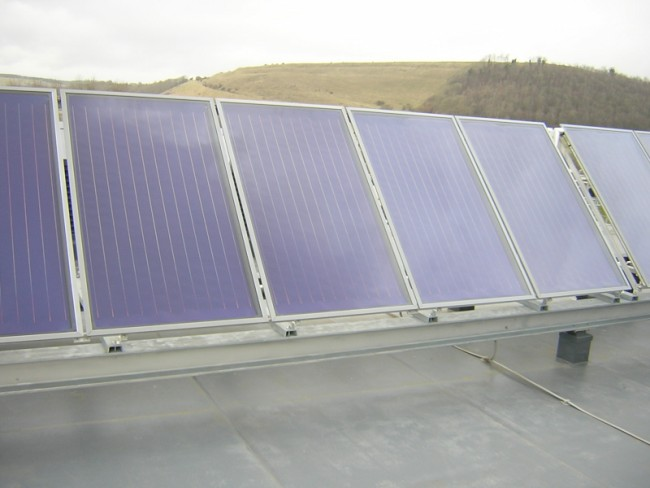 A-frame Flat Plate Solar Thermal Collectors
