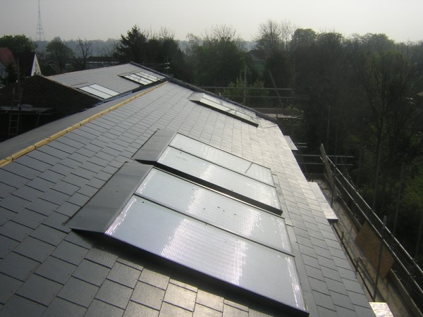In-Roof Solar Collector