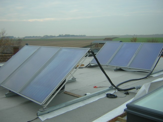 Green Roof Solar Install