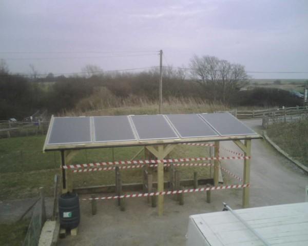 PV Solar Bike Shelter