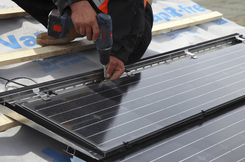 PV Tile Installation