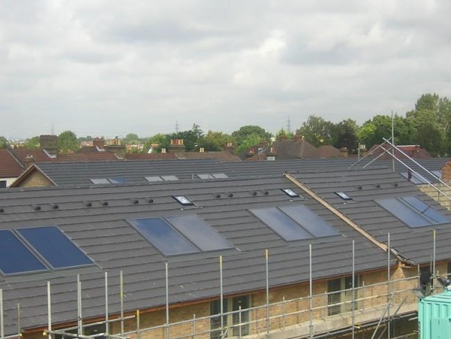 Solar Thermal for New Build Housing Estate, Croydon