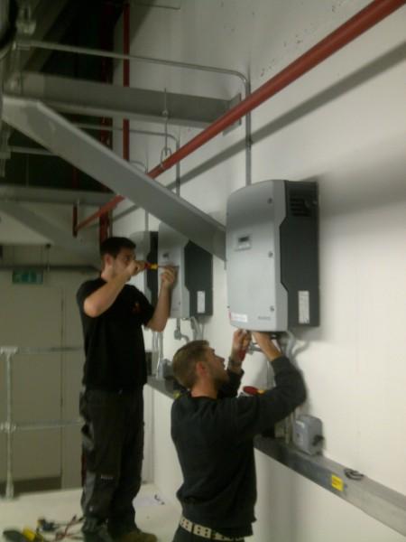 The Peek SMA Inverter Under Going Repairs